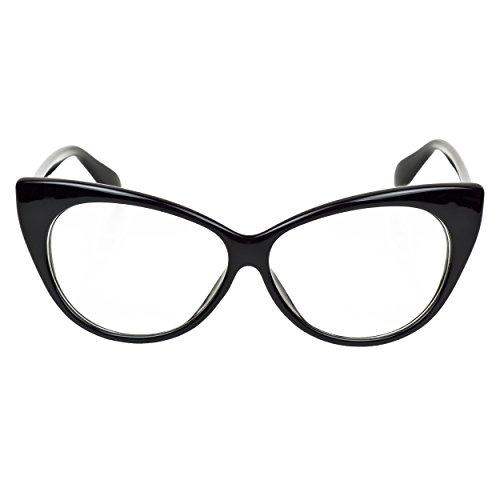 selezione migliore 6164a 5aa7f iB-iP Donna Occhi Di Gatto Occhiali Da Vista Con Lenti Chiare ...