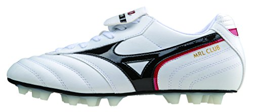 Mizuno Morelia Club 24 Firm Ground Football (Pearl-Black-Red) White f3VFme