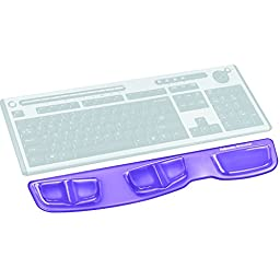 Fellowes Keyboard Palm Support with Microban Protection, Gel, Purple (9183601)