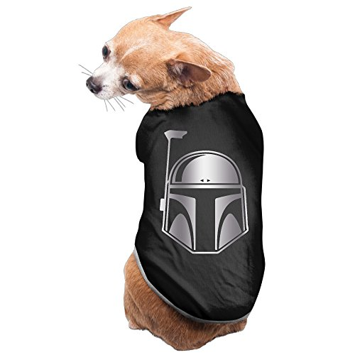 [Black Star Wars Boba Fett Platinum Style Pet Dog T-shirt Coat] (Jedi Costume Images)