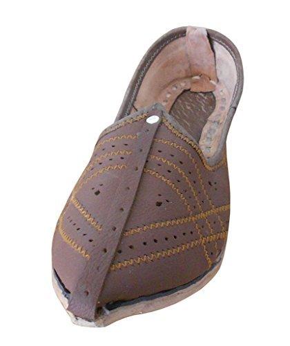 Kalra Creaciones Hombres de Piel de Tradicional Indio para Hombre Zapatos, Color Marrón, Talla 42.5 EU: Amazon.es: Zapatos y complementos