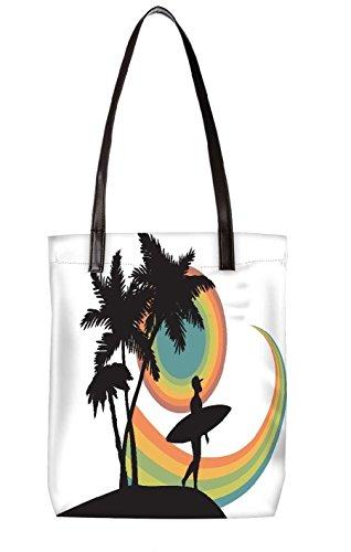 Borsa Da Spiaggia Snoogg, Multicolore (multicolore) - Ltr-bl-5400-totebag