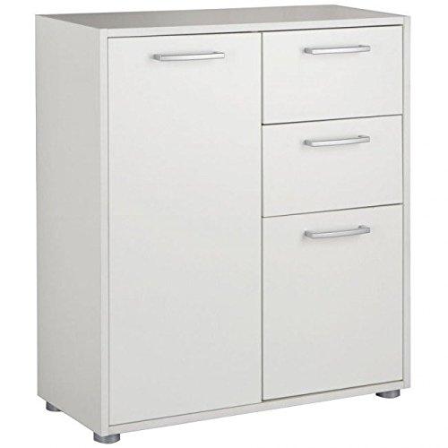 Base armadio ufficio studio moderno due cassetti 2 ante bianco BS2835 L70h80p30 Composad