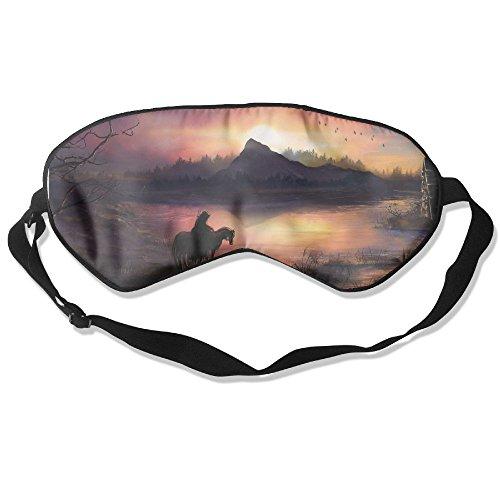 Sleep Mask Fantasy Lake Horse Eye Cover Blackout Eye Masks,Soothing Puffy Eyes,Dark Circles,Stress,Breathable Blindfold by MB32