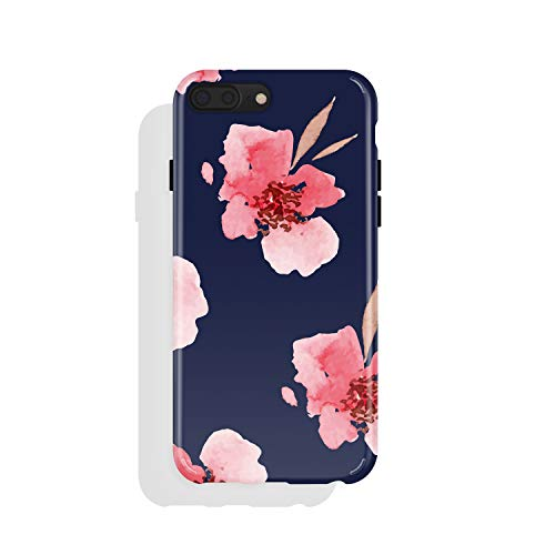 iPhone 8 Plus/iPhone 7 Plus case for Girls, Akna Collection Flexible Silicon Cover for Both iPhone 7 Plus & 8 Plus [Romantic Pink Flower](726-U.S)