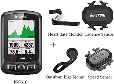 GPS Ordenador Para Bicicleta, Velocímetro Bluetooth, Bicicleta Impermeable, Cronómetro Digital (Monitor De Ritmo Cardíaco + Sensor De Cadencia + Soporte De Bicicleta Delantero + Sensor De Velocidad): Amazon.es: Hogar