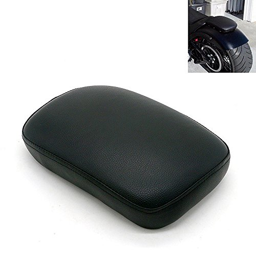 Black Pillion Pad Seat 8 Suction Cup Solo Rear Seat Passenger Saddle For Harley Dyna Sportster Softail Touring XL883 1200 48 (8) by Sunkey (Image #2)