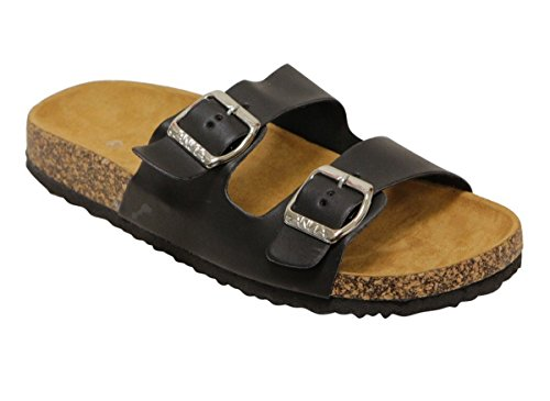 Anna Shoes Womens Glory-100 Sandal Silver,6 B(M) US,Black