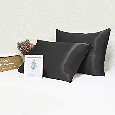 Ravmix Satin Pillowcases Pillow Covers for Hair and Skin King Size with Envelope