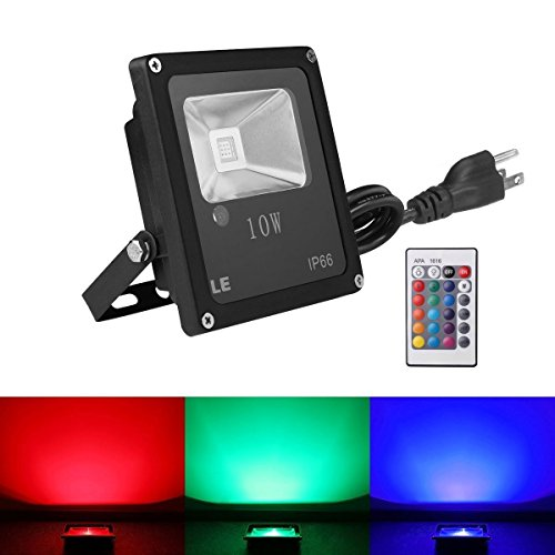 Le 10w rgb led flood lights outdoor color changing led security le 10w rgb led flood lights outdoor color changing led security light 16 colors 4 modes with remote control ip66 waterproof led floodlight us 3 plug mozeypictures Gallery