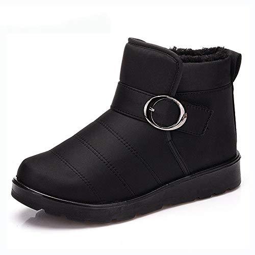 Resbalón En Sólido Zapatos Pingxiannv Nieve Invierno Casual Botines Mujeres Plataforma La Mujer De Correa Con Hebilla Botas Para Pisos Las q6wAOqP