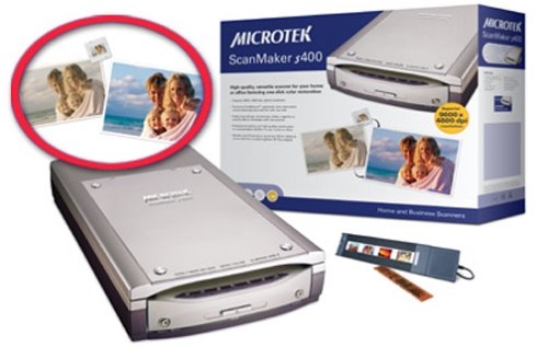 Microtek ScanMaker S400 Flatbed Scanner (Filmstrip Scanner)