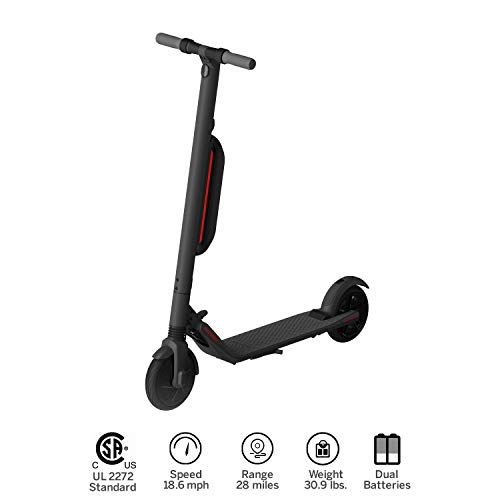 (ninebot KickScooter ES4 by Segway w 2nd Battery- Pro Electric Kick Scooter for Adults Offroad- Mobility Folding e Scooter Upgraded Motor - Dark Grey)