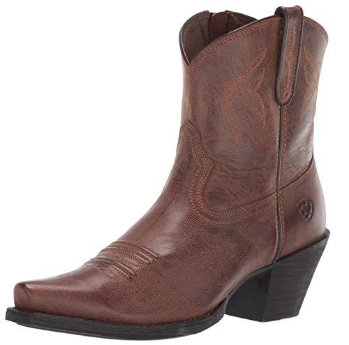 (Ariat Women's Women's Lovely Western Boot, Sassy Brown, 9 B US)