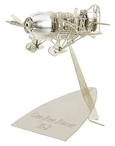 Metal Airplane Model of the The Gee Bee Racer R-2 by Aerobase – Silver - Bee Airplane Gee