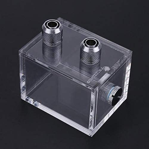 Mini 200ml Acrylic Water Tank with Connector Plug for PC Water Cooling 18mm OD 18mm Height 5mm Thread Height PrinceShop