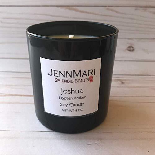 Splendid Beauty | Egyptian Amber Scented Soy Candle Glass Jar | 10 Oz | Handmade | Eco-friendly | Vegan | Cotton Wick | 100% Soy -