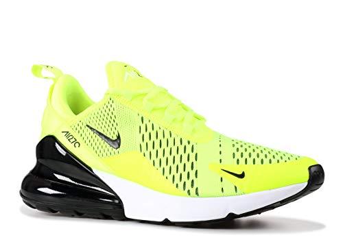 Volt Air - Nike Mens Air Max 270 Running Shoes Black/Volt/Oil Grey AH8050-701 Size 10