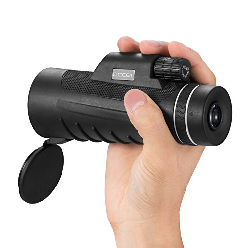 er Monocular Telescope HD Dual Focus Scope, Waterproof Compact Monocular with BAK4 Multi-Coated Zoom Lens, Low Night Vision for Hunting Bird Watching Camping Outdoor Sporting ()