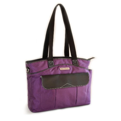 Clark & Mayfield Women's Newport Laptop Handbag Bag Tote 17.3'' - Purple by Clark & Mayfield