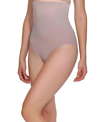 1 Shaper Slip (BOMIMI Women Shapewear High Waist Lingerie Tummy Control Panties Pure Color Body Shaper Pack Of 3)