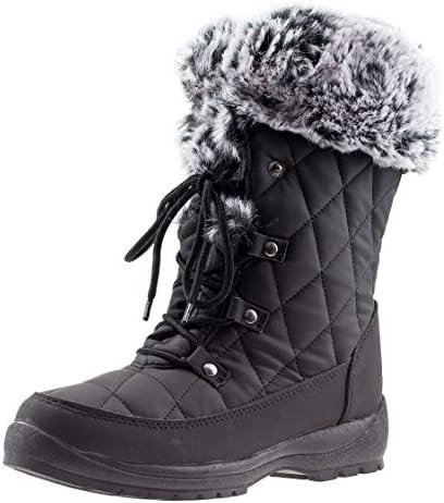 ArcticShield Women's Anna Warm Waterproof Insulated Comfortable Memory Foam Fur Winter Snow Boots