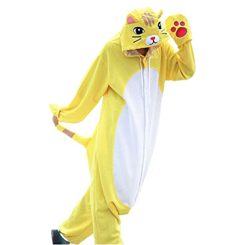 WOTOGOLD Animal Cosplay Costume Cat Unisex Pajamas -Yellow Cat