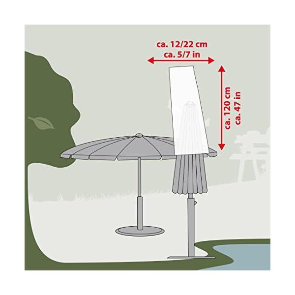 Ultranatura Copertura Protettiva in Tessuto per Parasolari da Spiaggia, Grigio (Grau), 12/22 x 120 cm 6 spesavip