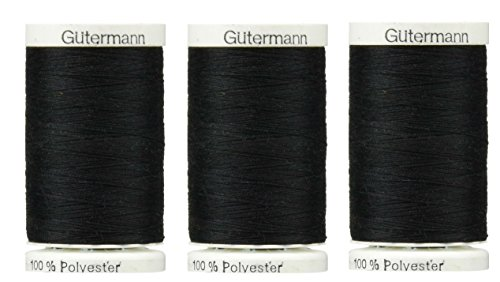 Sew-All, All PurposeThread 547 Yards-Black GUTERMANN Thread 3 pack (Black) by Gutermann