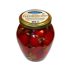 Giusto Sapore Peperoncino in Vinegar Antipasto 10.23oz - Non GMO Italian Premium Gourmet Brand - Imported from Italy and Family Owned