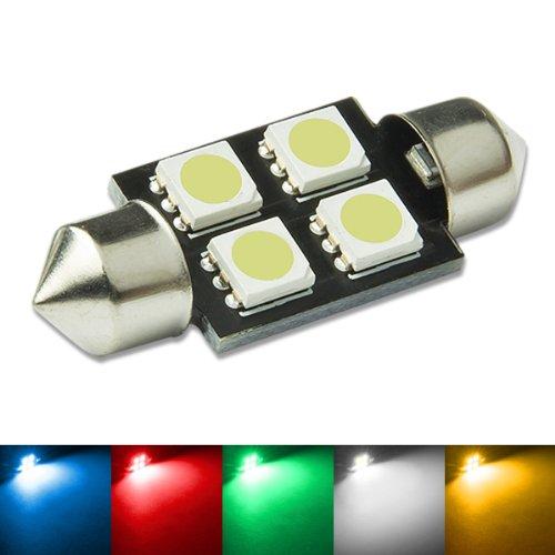 (11MM X 36MM 4-SMD 5050 Festoon White LED Light)