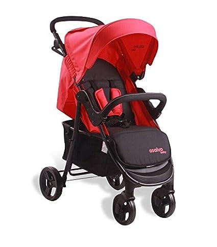 Asalvo 11633.0 bebé Buggy Ibiza rojo/negro: Amazon.es: Bebé