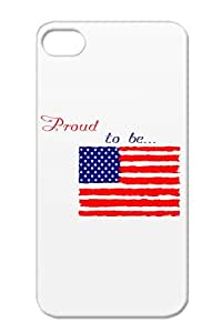 American To States Proud Patriot USA Cities Countries Be Red Case Cover For Iphone 4s Proud Be...