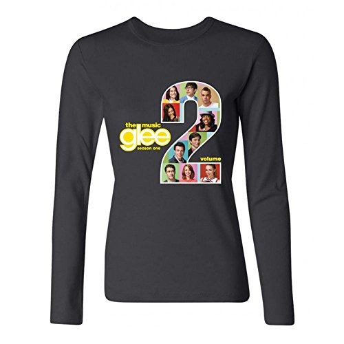 IIOPLO Women's Glee Cast Television Long Sleeve T-shirt Black S]()