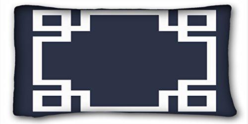 TAROLO cenefa decorativa de fundas de almohada Funda de cojín azul marino y blanco griego funda de almohada Cases Funda de...