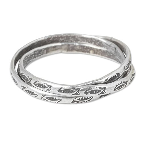 Hill Tribe Rings - NOVICA .950 Sterling Silver Hill Tribe Interlinked Rings, Karen Rivers' (Set of 3)