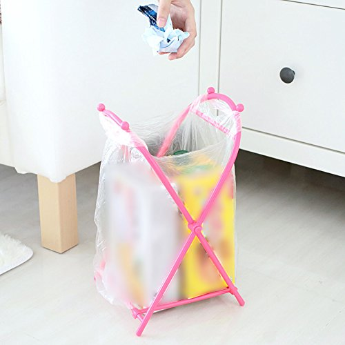 Foldable Garbage Bag Holder Kitchen Rubbish Bag Storage Stander Food Bag Organization Rack Living Room Bathroom Accessories