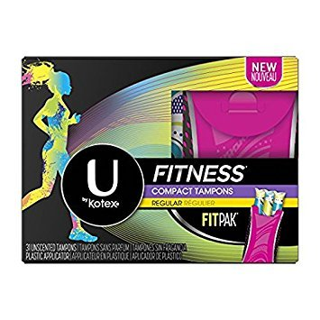 U by Kotex Regular Absorbency Fitness Compact Tampons, 31 Unscented Tampons (Pack of - Compact Tampon