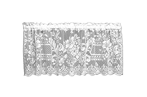 Abbey Valance (Heritage Lace Downton Abbey Aristocrat Valance, 60 by 18-Inch, White)