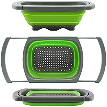 Beau Qimh Colander Collapsible, Colander Strainer Over The Sink Vegtable/Fruit  Colanders Strainers With Extendable Handles, Folding Strainer For Kitchen,6  ...