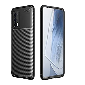 Lustree iQOO 7 5G Case,Lustree Shock-Absorption Carbon Fiber Felxible TPU Soft Silicon Full Body Protective Cover for…
