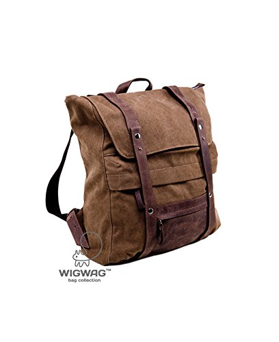 231ed4b79b6e Amazon.com  Canvas leather backpack