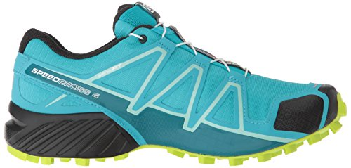 Salomon Women's Speedcross 4 W Trail Running Shoe, Bluebird/Acid Lime/Black, 5.5 B US by Salomon (Image #6)