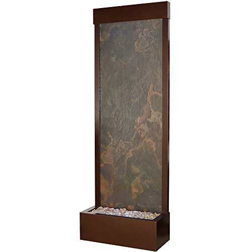 (BluWorld Towering 8' Copper Vein Gardenfall with Natural Slate)