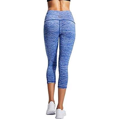 Neleus Women's Yoga Capris Tummy Control High Waist Workout Pants at Women's Clothing store