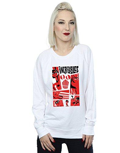 De Incredibles The Disney Mujer 2 Entrenamiento Collage Camisa Blanco 5qgqUYExw