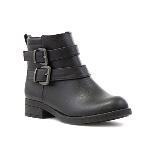 (Lilley Girls Black Double Buckle Ankle Boot - Size 3 UK/5 US - Black)