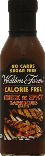 Walden Farms Thick & Spicy Barbeque Sauce 12oz (Pack of 2)