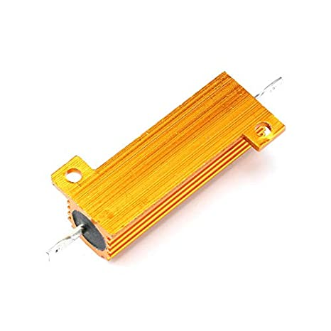 50W//100W Power Resistor Aluminum Housed Clad Heatsink RX24 Universal 5/% 0.1Ω-1KΩ