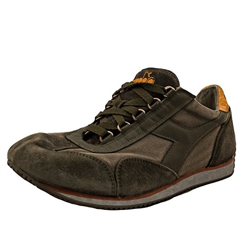 Diadora Heritage Uomo, Equipe SW Dirty 11 Fossil, Suede/Tessuto, Sneakers, Verde